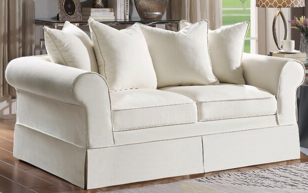 12 Charming French Country Sofas Robles Cotton Rolled Arm Loveseat #FrenchCountry #FrenchCountryDecor #Decor #CountryStyleDecor #FrenchCountrySofas #FrenchDecor #Sofas