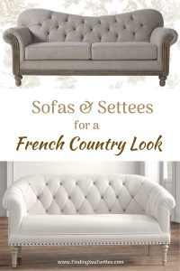 Sofas & Settees for a French Country Look #FrenchCountry #FrenchCountryDecor #Decor #CountryStyleDecor #FrenchCountrySofas #FrenchDecor #Sofas