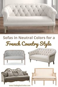 Sofas in Neutral Colors for a French Country Style #FrenchCountry #FrenchCountryDecor #Decor #CountryStyleDecor #FrenchCountrySofas #FrenchDecor #Sofas