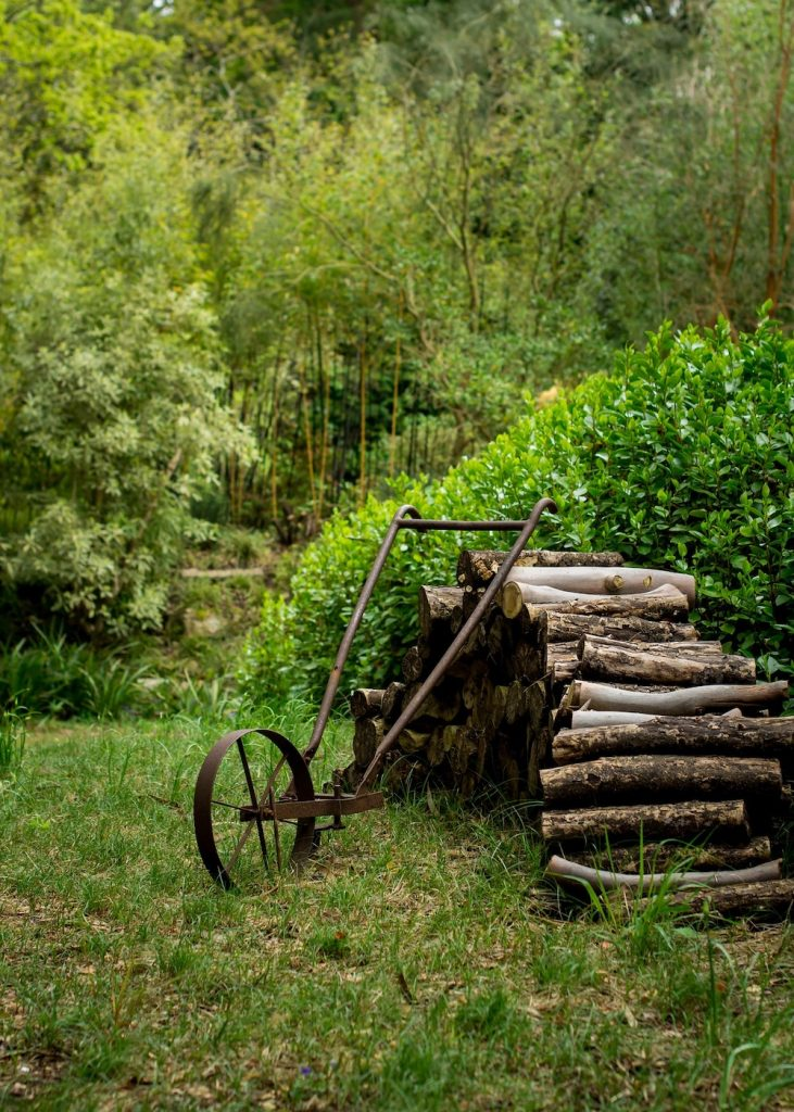 Spring Garden Cleaning Tips Old Log Pile #SpringGarden #Gardening #SpringCleaning #SprngGardenCleaning #SpringChores #BenefitsofGardening #GardenWorkOut