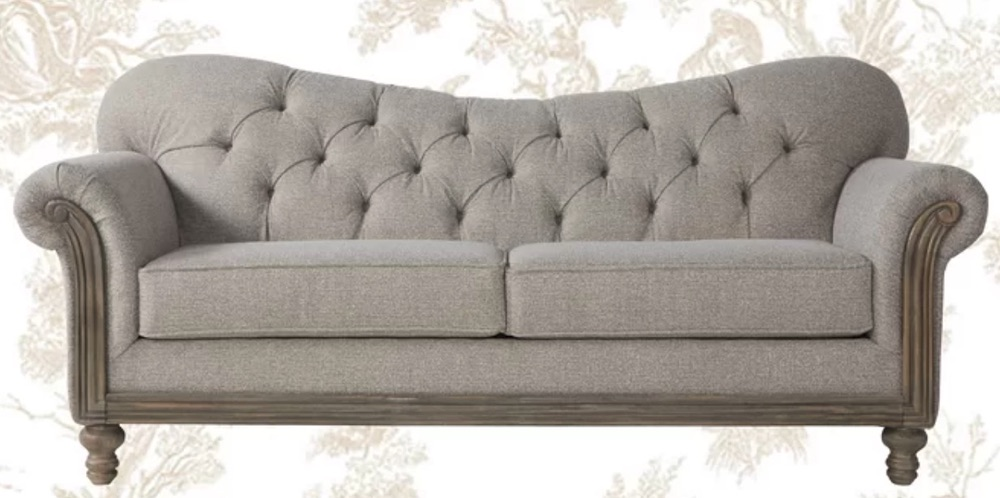 French Country Sofas Trivette Rolled Arms Sofa #FrenchCountry #FrenchCountryDecor #Decor #CountryStyleDecor #FrenchCountrySofas #FrenchDecor #Sofas