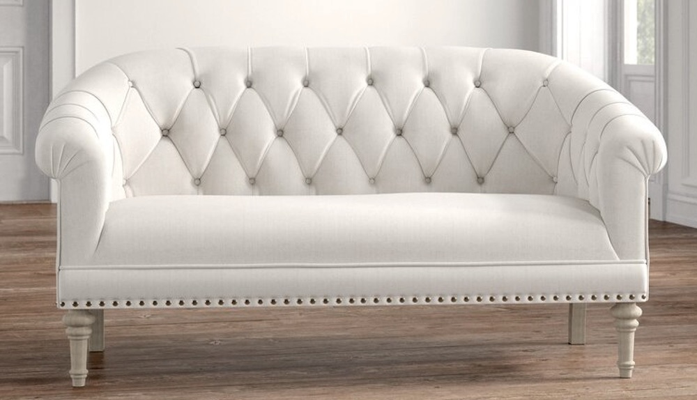 Wessels Rolled Arm Settee #FrenchCountry #FrenchCountryDecor #Decor #CountryStyleDecor #FrenchCountrySofas #FrenchDecor #Sofas