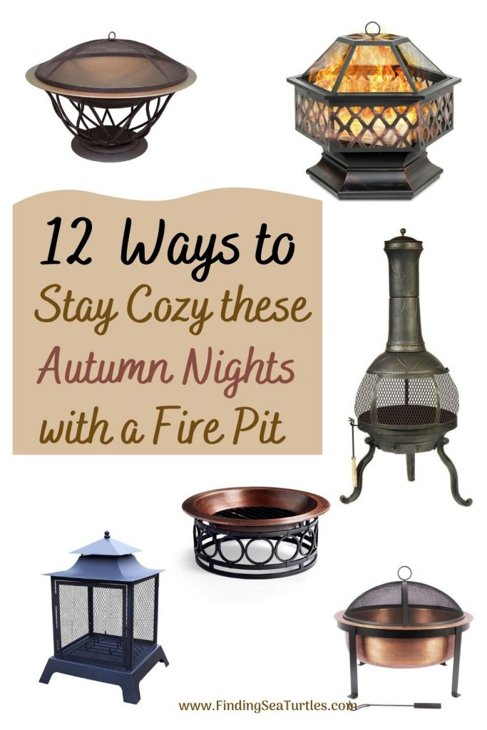 12 Ways to Stay Cozy these Autumn nights with a Fire Pit #FirePit #OutdoorLiving #Patio #OutdoorSpaces #StayCozy #CozyNightswithFirePits