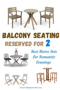 Balcony Seating Reserved for 2 Best Bistro Sets for Romantic Evenings #OutDoorFurniture #Patio #OutDoorLiving #OutDoorSpaces #PatioDining #Deck #Balcony