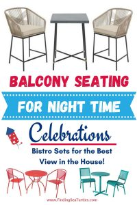 Balcony Seating for Night time Celebrations #OutDoorFurniture #Patio #OutDoorLiving #OutDoorSpaces #PatioDining #Deck #Balcony