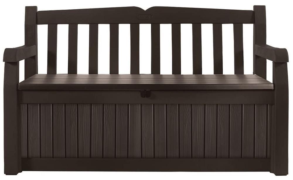 Bench Deck Box #DIY #Patio #DIYPatio #DIYPatioRefresh #Decor #PatioDecor #OutdoorDecor