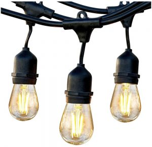 Ambience LED Outdoor String Lights #DIY #Patio #DIYPatio #DIYPatioRefresh #Decor #PatioDecor #OutdoorDecor