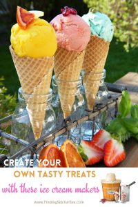 Create your own tasty treats with these ice cream makers #IceCream #Dessert #DIY #HomeMade #HomeMadeIceCream #SummerDesserts #SummerPicnics #SummerFun
