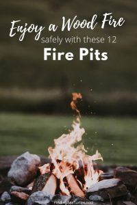 Enjoy a Wood Fire Safely with these 12 Fire Pits #FirePit #OutdoorLiving #Patio #OutdoorSpaces #StayCozy #CozyNightswithFirePits