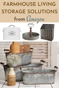 FARMHOUSE LIVING Storage Solutions from Amazon #Farmhouse #Storage #Organization #FarmhouseStorage #CountryStyleStorage #CountryDecor #FarmhouseOrganization #CountryStyle #VintageStyle