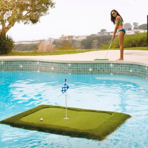 Floating Golf Green #Pool #SummerPool #PoolFun #PoolDecor #PoolAccessories #SummerFun #Relax #DailySwim #PoolParty