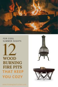For Cool Summer Nights 12 Wood Burning Pits that keep you Cozy #FirePit #OutdoorLiving #Patio #OutdoorSpaces #StayCozy #CozyNightswithFirePits