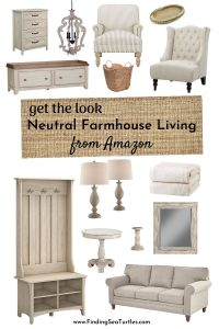 Get the Look Neutral Farmhouse Living from Amazon #Farmhouse #FarmhouseDecor #Decor #CountryDecor #SpringHomeRefresh #FarmhouseSpringRefresh #AffordableFarmhouse #CountryStyle #VintageDecor