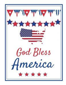 God Bless America 2020 Printable p1 #Patriotic #PatrioticQuotes #PatrioticPrintables #Printables #FreePrintables #PatrioticWallArt #DIY #WallArt #DIYDecor
