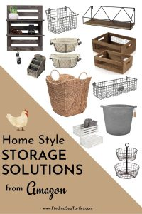 Home Style Storage Solutions from Amazon #Farmhouse #Storage #Organization #FarmhouseStorage #CountryStyleStorage #CountryDecor #FarmhouseOrganization #CountryStyle #VintageStyle