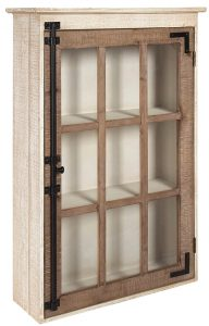 Simple Farmhouse Storage Solutions Hutchins Farmhouse Wood Wall Storage Cabinet #Farmhouse #Storage #Organization #FarmhouseStorage #CountryStyleStorage #CountryDecor #FarmhouseOrganization #CountryStyle #VintageStyle