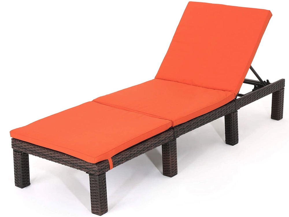 Jamaica Outdoor Wicker Chaise Lounge #DIY #Patio #DIYPatio #DIYPatioRefresh #Decor #PatioDecor #OutdoorDecor