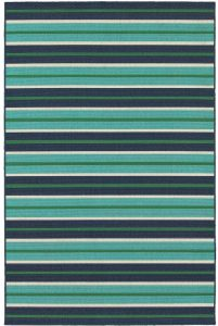 Kailani Striped Blue Rectangle Rug #Pool #SummerPool #PoolFun #PoolDecor #PoolAccessories #SummerFun #Relax #DailySwim #PoolParty