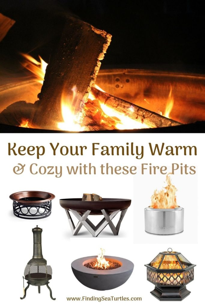 Keep Your Family Warm Cozy with These Fire Pits #FirePit #OutdoorLiving #Patio #OutdoorSpaces #StayCozy #CozyNightswithFirePits