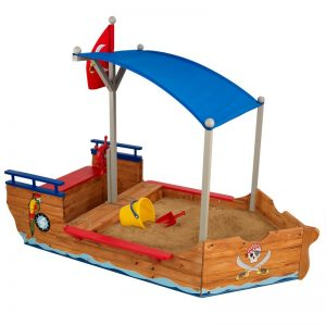 Backyard Toddler Toys: Pirate Sand Boat #backyard #toddler #toys #OutDoorPlay #SummerFun #SummerPlaytime