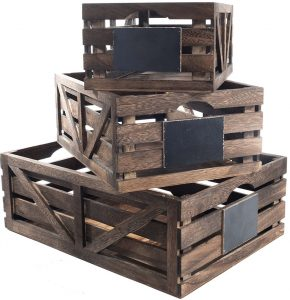 Simple Farmhouse Storage Solutions Premium Home Wooden Crates #Farmhouse #Storage #Organization #FarmhouseStorage #CountryStyleStorage #CountryDecor #FarmhouseOrganization #CountryStyle #VintageStyle