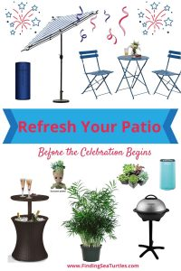 Refresh Your Patio Before the Celebration Begins #DIY #Patio #DIYPatio #DIYPatioRefresh #Decor #PatioDecor #OutdoorDecor