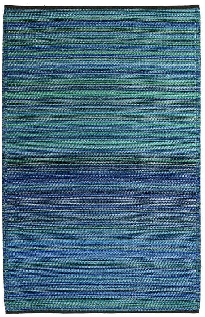 Reversible Rugs Indoor Outdoor Turquoise Moss Green #DIY #Patio #DIYPatio #DIYPatioRefresh #Decor #PatioDecor #OutdoorDecor