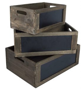 Rustic Brown Wood Nesting Storage Crates #Farmhouse #Storage #Organization #FarmhouseStorage #CountryStyleStorage #CountryDecor #FarmhouseOrganization #CountryStyle #VintageStyle