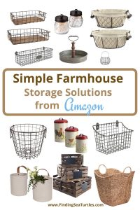 Simple Farmhouse Storage Solutions from Amazon #Farmhouse #Storage #Organization #FarmhouseStorage #CountryStyleStorage #CountryDecor #FarmhouseOrganization #CountryStyle #VintageStyle