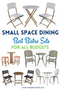 Small Space Dining Best Bistro Sets for all Budgets #OutDoorFurniture #Patio #OutDoorLiving #OutDoorSpaces #PatioDining #Deck #Balcony