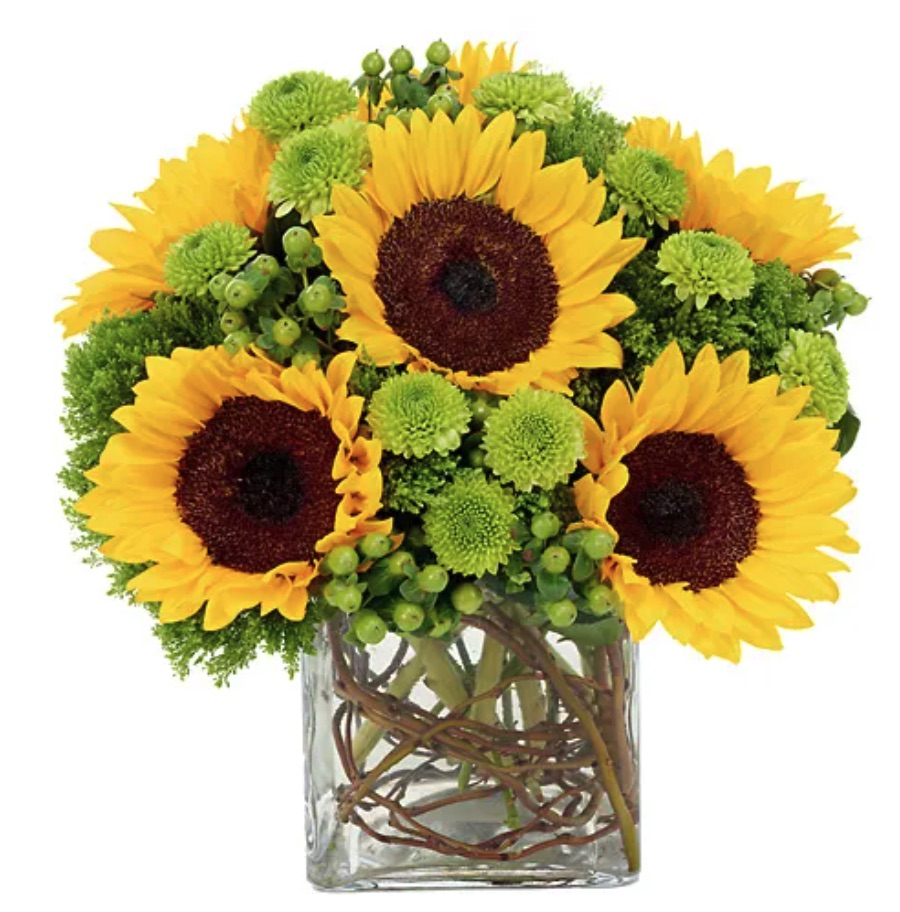 Sunny Sunflowers Bouquet by Send Flowers #flowers #flowerdelivery #bouquets #OnlineFlowers #FlowersOnline #MothersDay #FlowersForMom #GiveMomFlowers