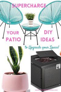 Supercharge your Patio DIY Ideas to Upgrade your Space #DIY #Patio #DIYPatio #DIYPatioRefresh #Decor #PatioDecor #OutdoorDecor