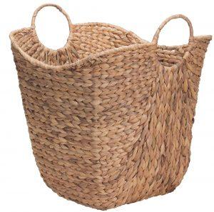 Tall Water Hyacinth Wicker Basket #Farmhouse #FarmhouseDecor #Decor #CountryDecor #SpringHomeRefresh #FarmhouseSpringRefresh #AffordableFarmhouse #CountryStyle #VintageDecor