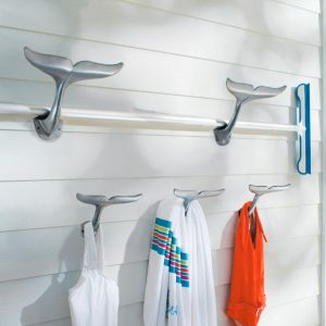 Whale Tail Hooks Display #Pool #SummerPool #PoolFun #PoolDecor #PoolAccessories #SummerFun #Relax #DailySwim #PoolParty