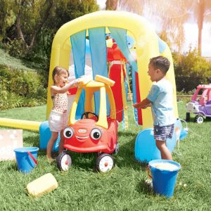 Inflatable Carwash #backyard #toddler #toys #OutDoorPlay #SummerFun #SummerPlaytime