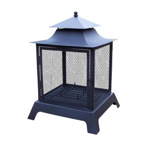 26-in Iron Chimenea #FirePit #OutdoorLiving #Patio #OutdoorSpaces