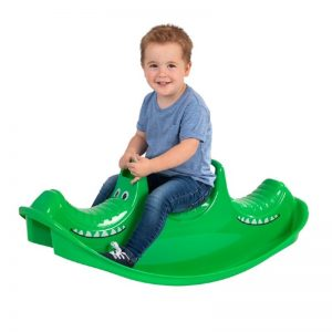 Backyard Toddler Toys: Crocodile Rocker #backyard #toddler #toys #OutDoorPlay #SummerFun #SummerPlaytime