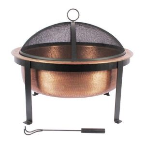 Hammered Copper fire pit #FirePit #OutdoorLiving #Patio #OutdoorSpaces