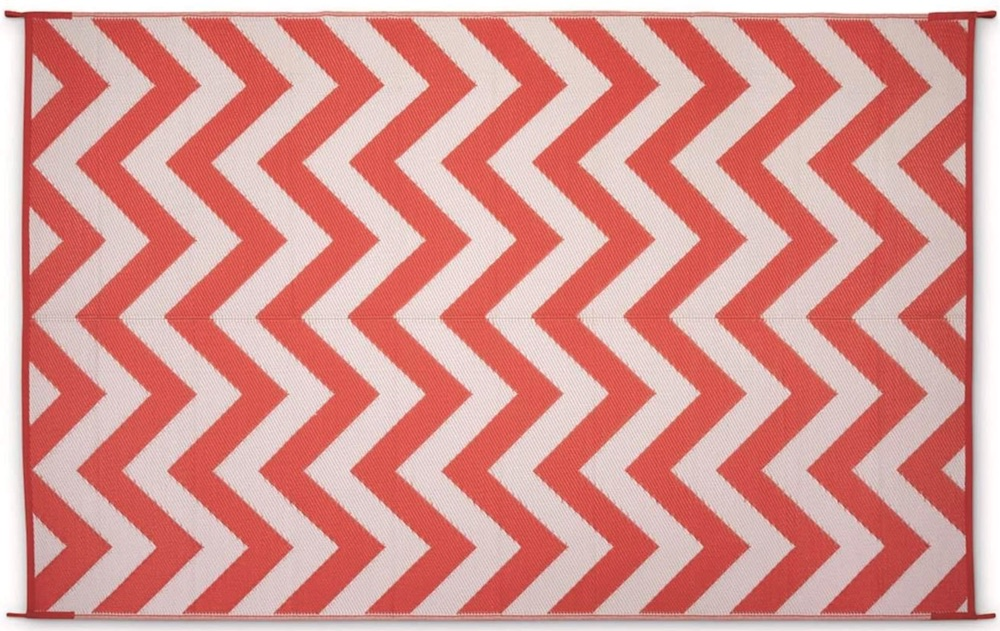 Outdoor Rugs for Outdoor Spaces Chevron Outdoor Rug Coral and White #Patio #Porch #Balcony #OutdoorSpace #PatioRefresh #Decor #PatioDecor #PatioRugs #PorchRugs #OutdoorRugs