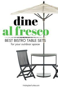 Dine Alfresco: Bistro Patio Sets #outdoorfurniture #patio #outdoorliving