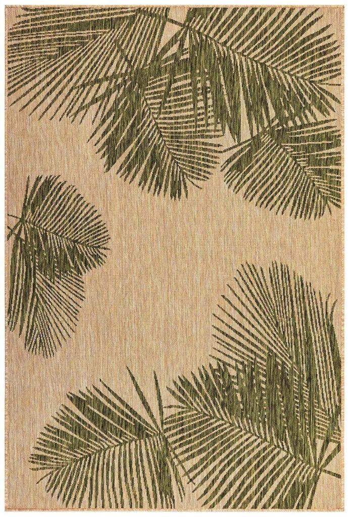 Patio Flooring Palm Green Indoor:Outdoor Rug #Patio #Porch #Balcony #OutdoorSpace #PatioRefresh #Decor #PatioDecor #PatioRugs #PorchRugs #OutdoorRugs
