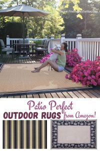 Porch Perfect Outdoor Rugs from Amazon #Patio #Porch #Balcony #OutdoorSpace #PatioRefresh #Decor #PatioDecor #PatioRugs #PorchRugs #OutdoorRugs