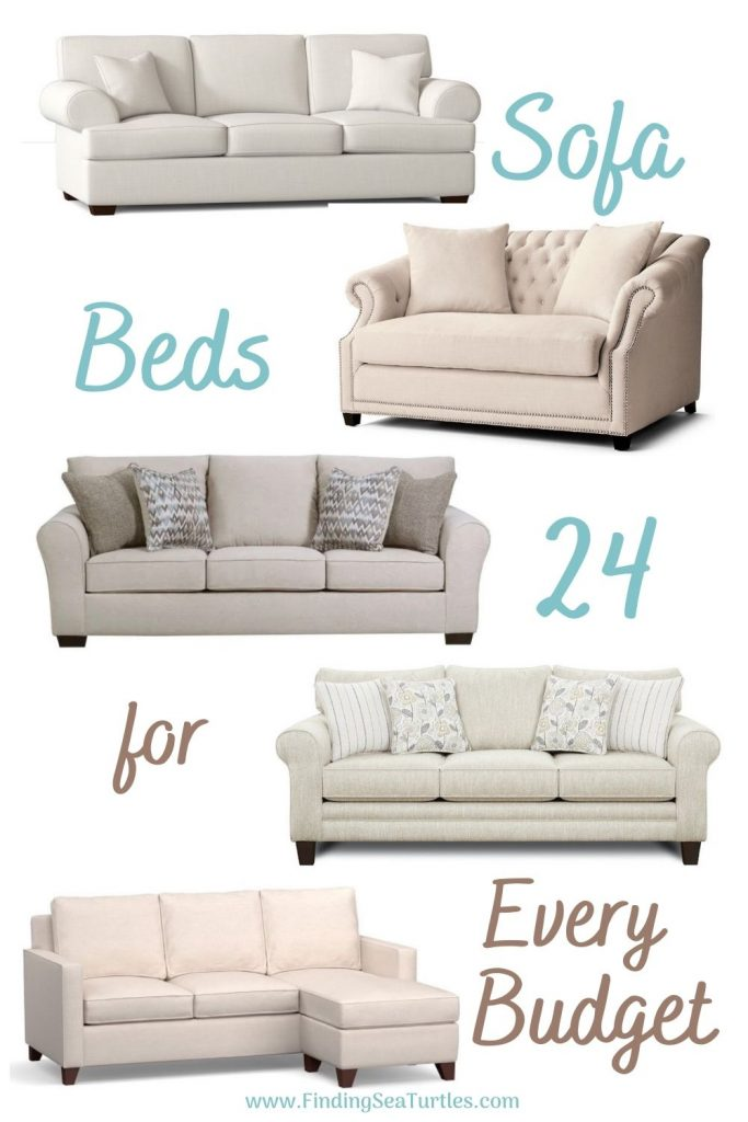 Sofa Beds 24 for Every Budget #SleeperSofa #OvernightGuests #GuestRoom #SofaBed #FamilySleepovers #CompanyIsComing
