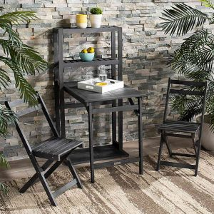 Best Outdoor Bistro Sets: Griffen Balcony Dining Cabinet #OutDoorFurniture #Patio #OutDoorLiving #OutDoorSpaces #PatioDining #Deck #Balcony