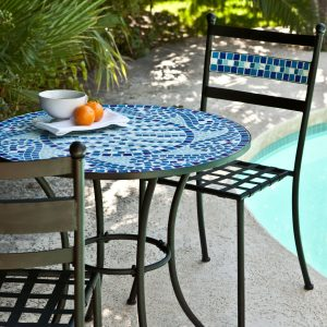 Best Outdoor Bistro Sets: Coral Coast Bistro Set #OutDoorFurniture #Patio #OutDoorLiving #OutDoorSpaces #PatioDining #Deck #Balcony