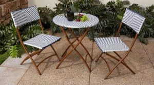 Best Outdoor Bistro Sets: French Caf Bistro Set #OutDoorFurniture #Patio #OutDoorLiving #OutDoorSpaces #PatioDining #Deck #Balcony