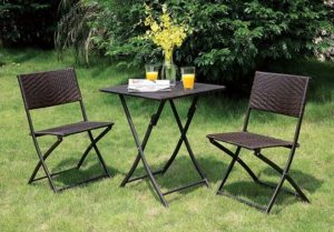 Gearhart Cottage Bistro Set #OutDoorFurniture #Patio #OutDoorLiving #OutDoorSpaces #PatioDining #Deck #Balcony