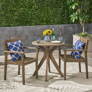 Ramage Bistro Set #OutDoorFurniture #Patio #OutDoorLiving #OutDoorSpaces #PatioDining #Deck #Balcony