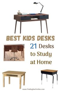 Best Kids Desks 21 Desks to Study at Home #KidsDesk #StudyAtHome #Decor #HomeSchool #Homework
