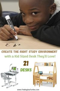 Create the Right Study Environment with a Kid Sized Desk They'll Love 21 Desks #KidsDesk #StudyAtHome #Decor #HomeSchool #Homework